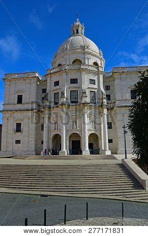Panteao Nacional - Historical Patrimony On The Background Of A Blue Sky. Lisbon, Portugal, 02 Novemb