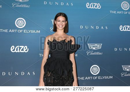 LOS ANGELES - JAN 5:  Hailey Clauson at the Art of Elysium 12th Annual HEAVEN Celebration at a Private Location on January 5, 2019 in Los Angeles, CA