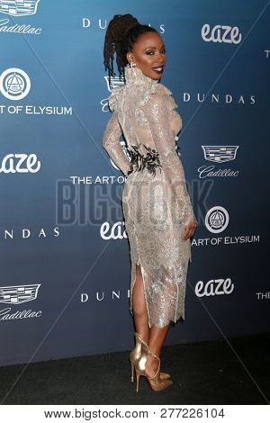 LOS ANGELES - JAN 5:  Shanola Hampton at the Art of Elysium 12th Annual HEAVEN Celebration at a Private Location on January 5, 2019 in Los Angeles, CA