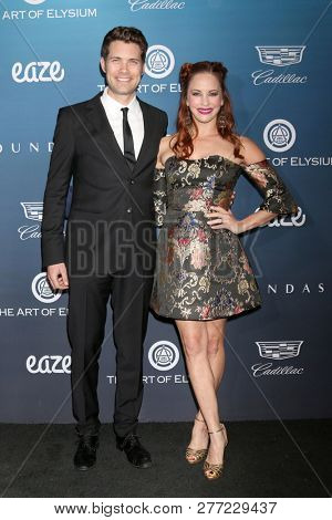 LOS ANGELES - JAN 5:  Drew Seeley, Amy Paffrath at the Art of Elysium 12th Annual HEAVEN Celebration at a Private Location on January 5, 2019 in Los Angeles, CA