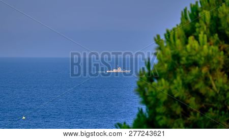 Warship in Greece patrols the island of Rhodes 2018 poster