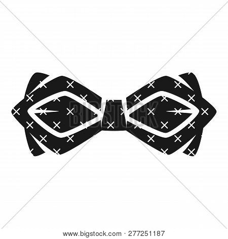 Cross Draw Bow Tie Icon. Simple Illustration Of Cross Draw Bow Tie Vector Icon For Web Design Isolat