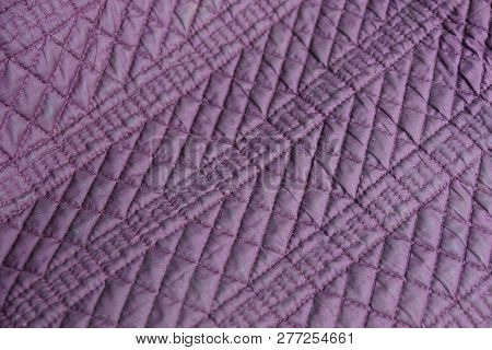 Lilac Texture Of Synthetic Fabrics With A Pattern