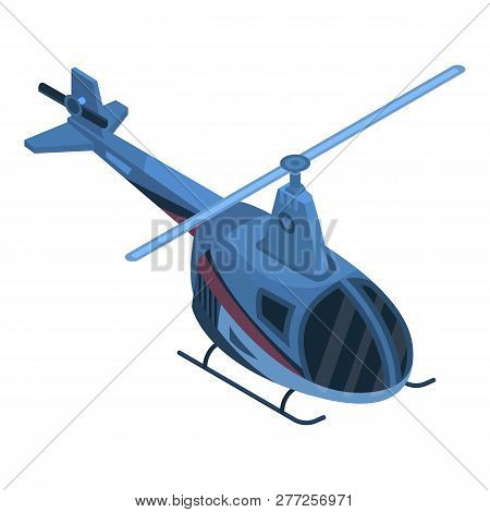 Two Passenger Helicopter Icon. Isometric Of Two Passenger Helicopter Vector Icon For Web Design Isol