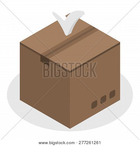 Final Delivery Box Icon. Isometric Of Final Delivery Box Vector Icon For Web Design Isolated On Whit
