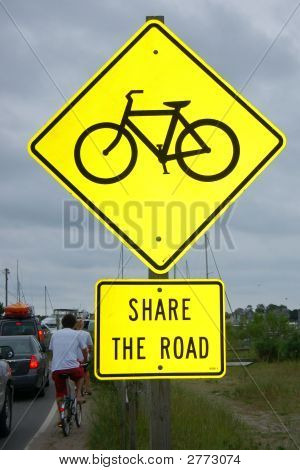 Sign - Share The Road With Cyclists