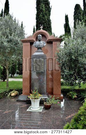 Sochi, Russia September 29, 2016: Monument To Emperor Nicholas Alexandrovich In Sochi, Russia
