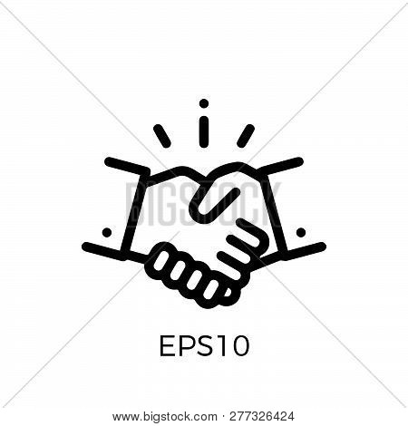 Handshake Vector Icon Flat Style Illustration For Web, Mobile, Logo, Application And Graphic Design.
