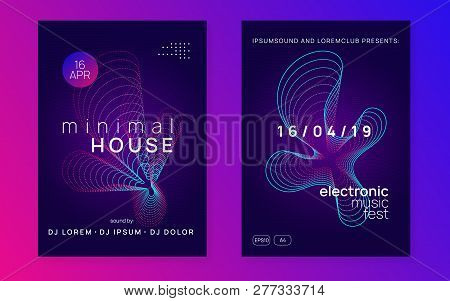 Trance event. Energy discotheque brochure set. Dynamic gradient shape and line. Neon trance event flyer. Techno dj party. Electro dance music. Electronic sound. Club fest poster. poster