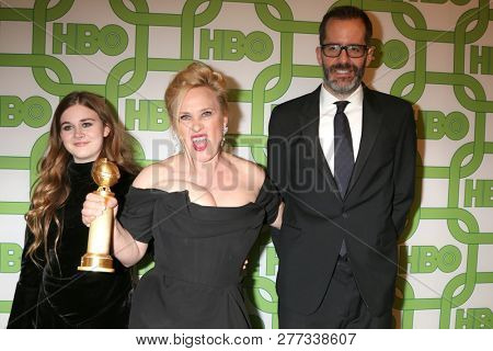LOS ANGELES - JAN 6:  Harlow Jane, Patricia Arquette, Eric White at the 2019 HBO Post Golden Globe Party at the Beverly Hilton Hotel on January 6, 2019 in Beverly Hills, CA