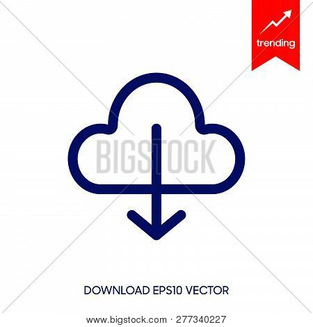Download Icon In Trendy Design Style. Download Icon Isolated On White Background. Download Vector Ic
