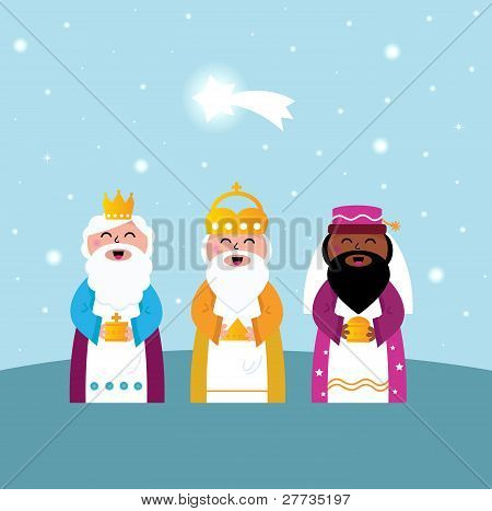 Three Wise Men Bringing Gifts