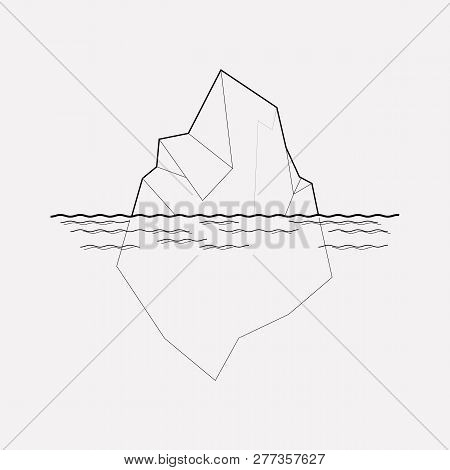 Iceberg Icon Line Element. Vector Illustration Of Iceberg Icon Line Isolated On Clean Background For