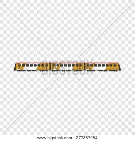 Passenger Train Icon. Cartoon Of Passenger Train Icon For Web Design