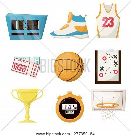 Basketball Sports Game Ball Vector Illustration Basket Ball Competition Equipment. Professional Cour