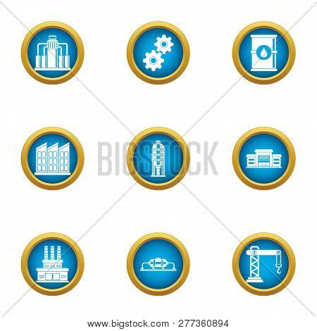 Commercial Growth Icons Set. Flat Set Of 9 Commercial Growth Icons For Web Isolated On White Backgro