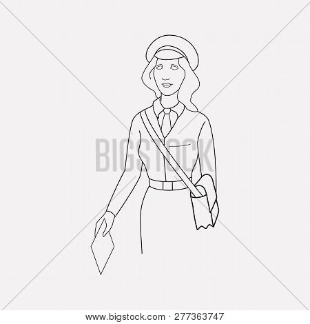 Mailman Icon Line Element. Vector Illustration Of Mailman Icon Line Isolated On Clean Background For