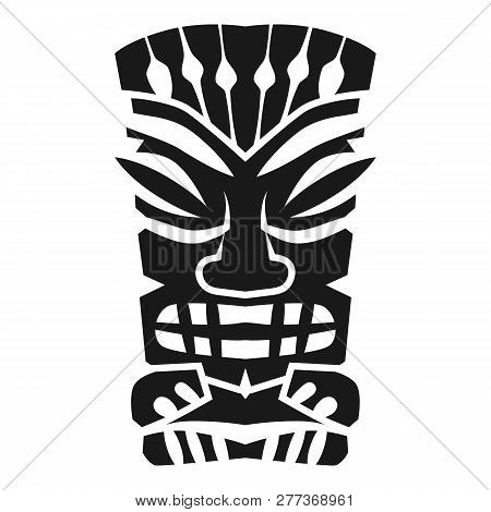 Mystery Aztec Idol Icon. Simple Illustration Of Mystery Aztec Idol Icon For Web Design Isolated On W