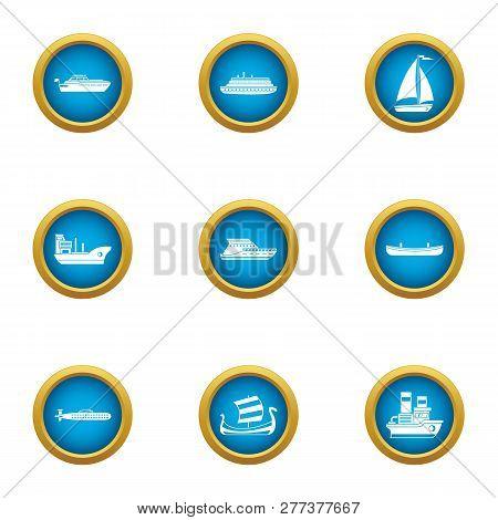 Jetliner Icons Set. Flat Set Of 9 Jetliner Icons For Web Isolated On White Background
