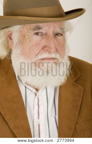 Sad Old Man With A Hat 2