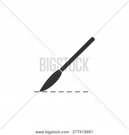 Incision Surgery. Black Icon Flat On White Background
