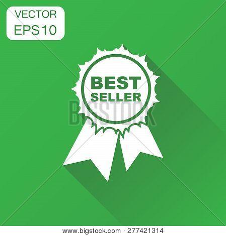 Best Seller Icon. Business Concept Best Seller Ribbon Pictogram.