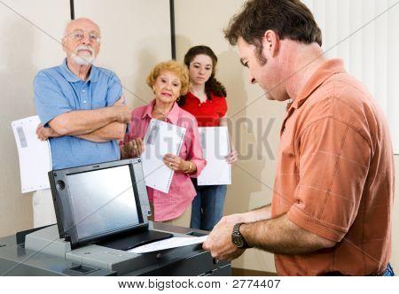 Mid Adult Man Voting