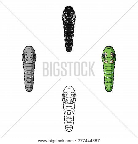 Caterpillar Icon In Cartoon Style Isolated On White Background. Insects Symbol Stock Vector Illustra