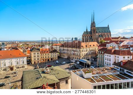 Brno, Czech Republic - April, 2018: Cathedral Of St Peter And Paul In Brno, Moravia, Czech Republic