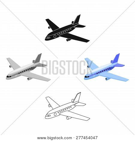 Aircraft For Transportation Of A Large Number Of People. The Safest Air Transport.transport Single I