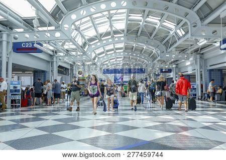O Hare International Airport. Chicago, Usa