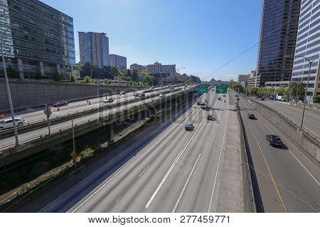 I5 South Freeway In Seattle