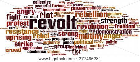 Revolt Word Cloud Concept. Vector Illustration On White
