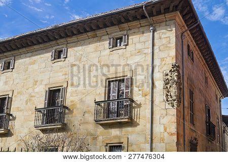 Elorrio town in Vizcaya, with renaissance architecture poster