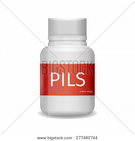 Image Packaging Painkiller Pils White Background. 3d Vector Illustration Infographic Medication Pack Pill. Rheumatic Disease Treatment. Isolated. Advertisement Rheumatologist Prescription poster