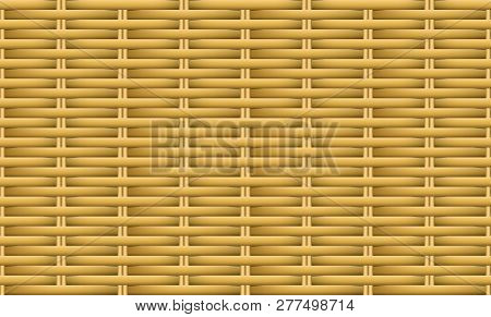 Seamless Brown Weave Rattan Pattern, Vector Art Design