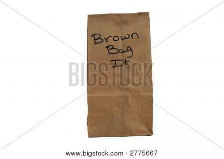 Brown Bag With Saying