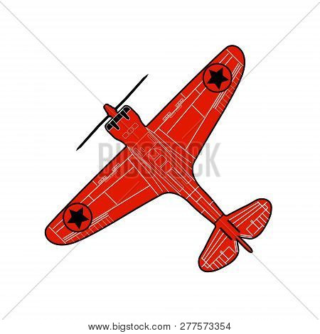 old stunt aeroplane isolated schematic silouette image poster