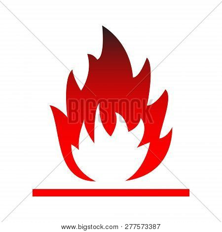 Flammable Attention Isolated Vector Sign Sticker Isolated