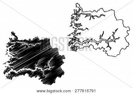 Sogn Og Fjordane (administrative Divisions Of Norway, Kingdom Of Norway) Map Vector Illustration, Sc