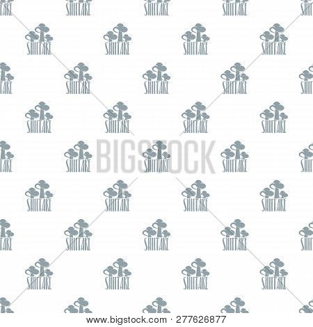 Shiitake Pattern Vector Seamless Repeat For Any Web Design