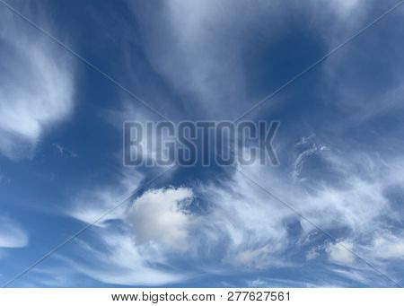 This Is An Image Of Clouds In A Blue Sky
