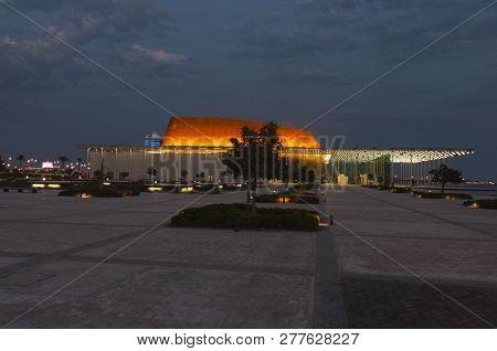 Manama, Bahrain, December 29, 2018: View Of The Bahrain National Museum In Manama
