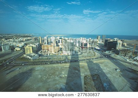 Manama, Bahrain, December 30, 2018: View Of The Skylines And Buildings Landmark Of In Bahrain In Kar