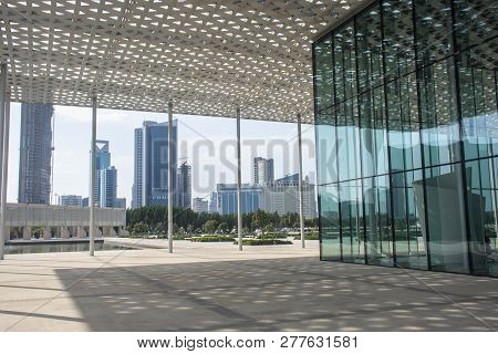 Manama, Bahrain, December 31, 2018: Panoramic View Of The City. Manama Of Bahrain - National Museum