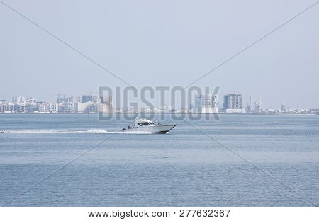 Manama, Bahrain, December 30, 2018: Panoramic View Of The City. Manama Of Bahrain - Visitor Tack Tou