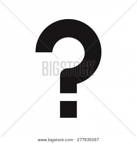 Question Mark Icon Isolated On White Background. Question Mark Icon In Trendy Design Style. Question