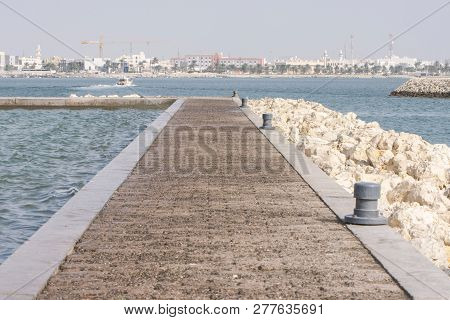 Manama City, Bahrain Port Of Museum Way