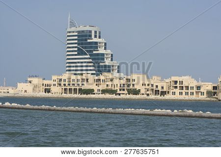 Manama, Bahrain, December 30, 2018: Panoramic View Of The City. Manama Of Bahrain - National Museum