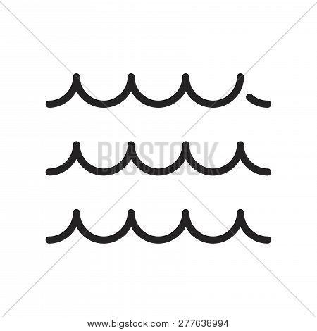 Sea Waves Vector Icon On White Background. Sea Waves Icon In Modern Design Style. Sea Waves Vector I